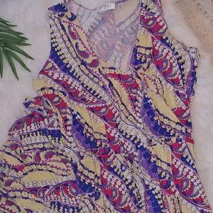 nikki poulos Dresses - NWOT Nikki Poulos colorful maxi dress